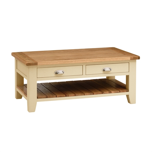 Ambriella Coffee Table Intone Painted Oak Coffee Table With Drawers