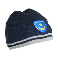 Portsmouth Elite Beanie Hat - Navy/Grey. - CLICK FOR MORE INFORMATION