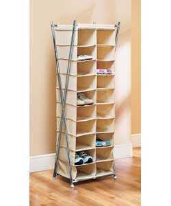 canvas and Silver 20 Pocket Shoe Unit product image