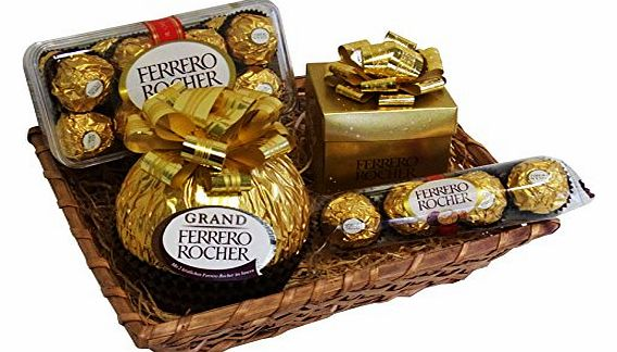 Gift Set Christmas Hamper with Ferrero Rocher (4 parts)