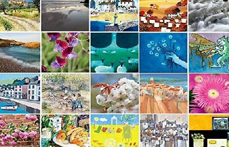 Cards and Regards Multipack of 20 Eco-friendly Art and Photographic Blank Greetings Cards