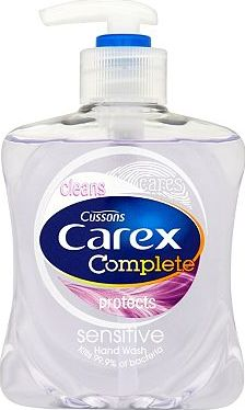 Carex, 2041[^]10033513 Cussons Carex Sensitive Hand Wash 250ml 10033513