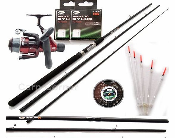 Carp corner complete match fishing outfit kit starter set for Fishing pole setup beginners