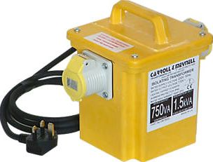 Carroll and Meynell Transformers, 1228[^]61847 Portable Transformer with 2 Output Sockets
