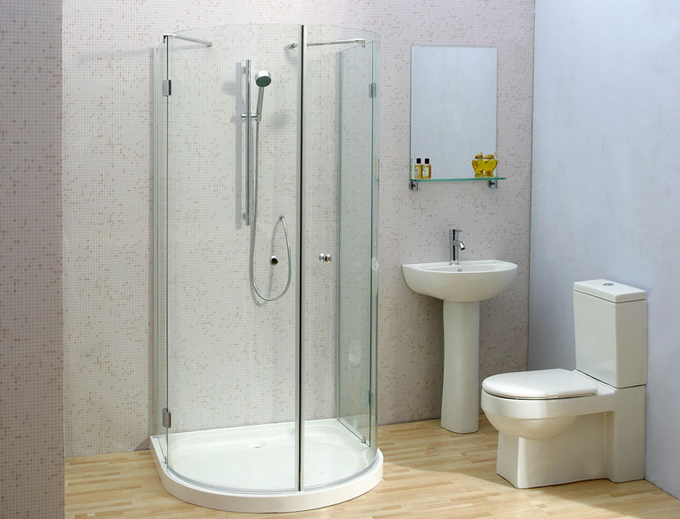 Cascata Mezzolini D-Shaped Shower Enclosure