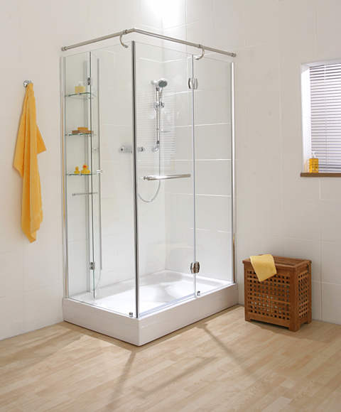 Cascata showers for Shower cubicle shelves