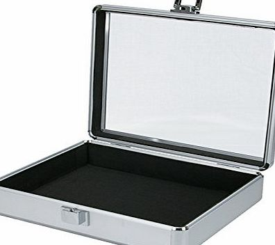Cases and Enclosures Aluminium Flight Case Tool Box Clear Top (270x220x70mm)