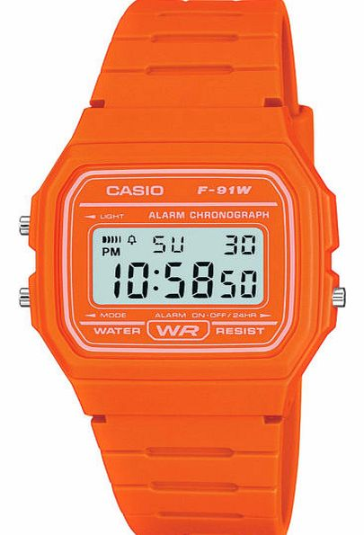 Retro Casual Watch - Vibrant Orange