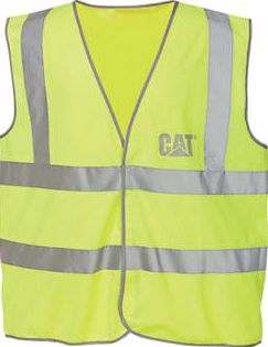 CAT, 1228[^]14204 C1322024 Hi Vis Vest Yellow L 14204