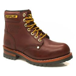 Male Sequoia Steel Toe Cap Leather Upper Casual in Burgundy