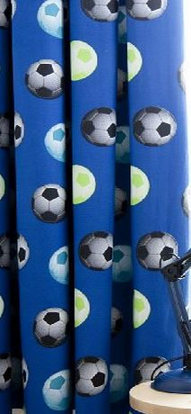Catherine Lansfield Kids Football Curtains - Blue