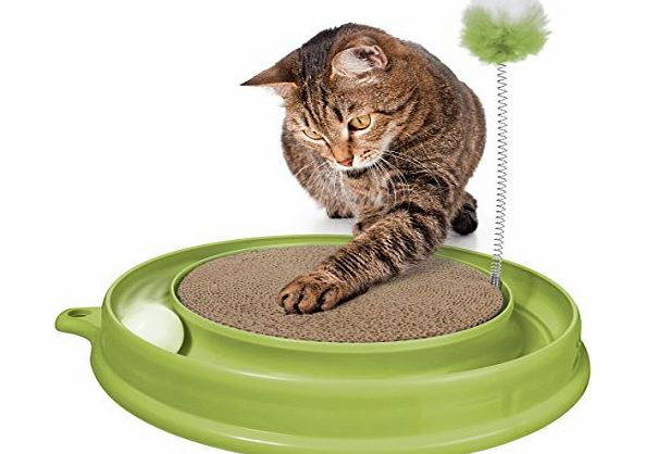 Catit Play-n-Scratch Toy, Green