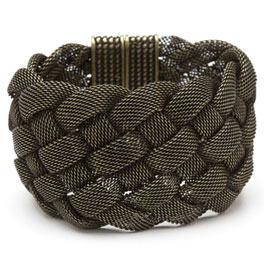 All that Glitters?is always CC Skye. Wide Oxidized Gold Mesh Bracelet by CC Skye comes with interwov... - CLICK FOR MORE INFORMATION
