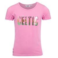 Celtic Sequin T-Shirt - Flamingo Pink - Girls. product image