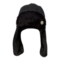 Celtic Trapper Hat - Black.