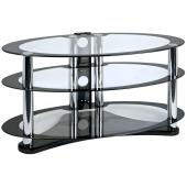 Centurion GT8 Oval Black Glass TV Stand For Up To 50` Screens - CLICK FOR MORE INFORMATION
