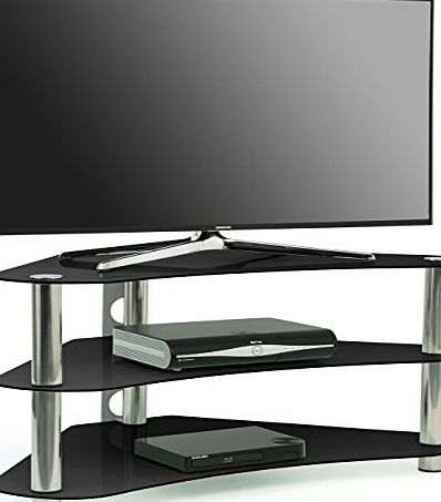 Centurion Supports Centurion GT7 Contemporary Design Flat Screen LCD/Plasma/LED 26-42 Corner Black Glass Stand