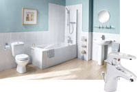 Milan 1 Taphole Bathroom Suite with Como Taps