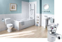 Milan 1 Taphole Como Bathroom Suite with Whirlpool Bath