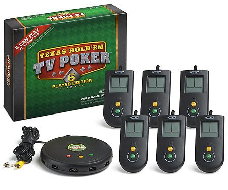 Character Options Texas HoldEm TV Poker - 6 Player Edition Video Game System product image
