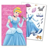9x6 Disney Princess Birthday Card - Stickers Inside!