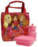 Bratz Carousel Cabaret Premium Lunch Bag Kit (Sandwich Box and Bottle)