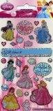 Characters 4 Kids Disney Princess Stickers - 26 Re-usable Glitter Stickers - Party Bag Size