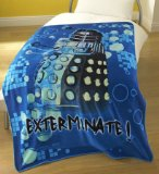 Doctor Who Upgrade Fleece Blanket - Exterminate Dalek - Large!