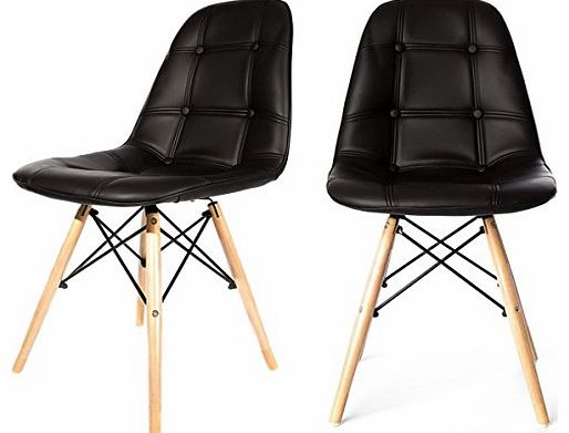 Charles Jacobs Replica Charles Eames DiningOffice Chair  : charles jacobs replica charles eames dining office chair x2 pair in black with wood from www.comparestoreprices.co.uk size 514 x 391 jpeg 24kB