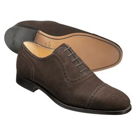 Conker Brown Calf Leather Semi Brogue Shoes