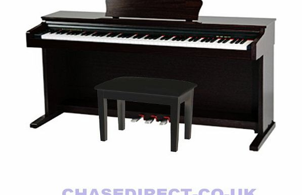 CDP-245BK Digital Piano Colour Black - FREE PIANO STOOL WITH STORAGE COMPARTMENT