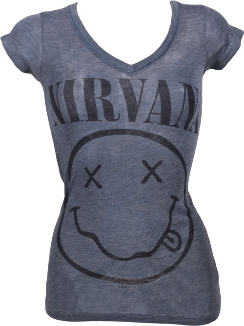 Chaser LA Ladies Smiley Face Nirvana T-Shirt from Chaser LA