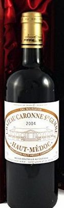 Chateau Caronne 2004 Chateau Caronne Ste Gemme 2004 Bordeaux Superieur Vintage Wine presented in a silk lined wooden box with four wine accessories Christmas Present, Corporate Gift, Wedding, Anniversary Birthday Gif product image