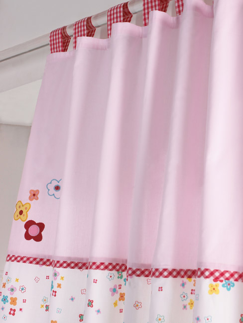 How to Make Tab Top Curtains : How to Sew Tabs onto Tab Top