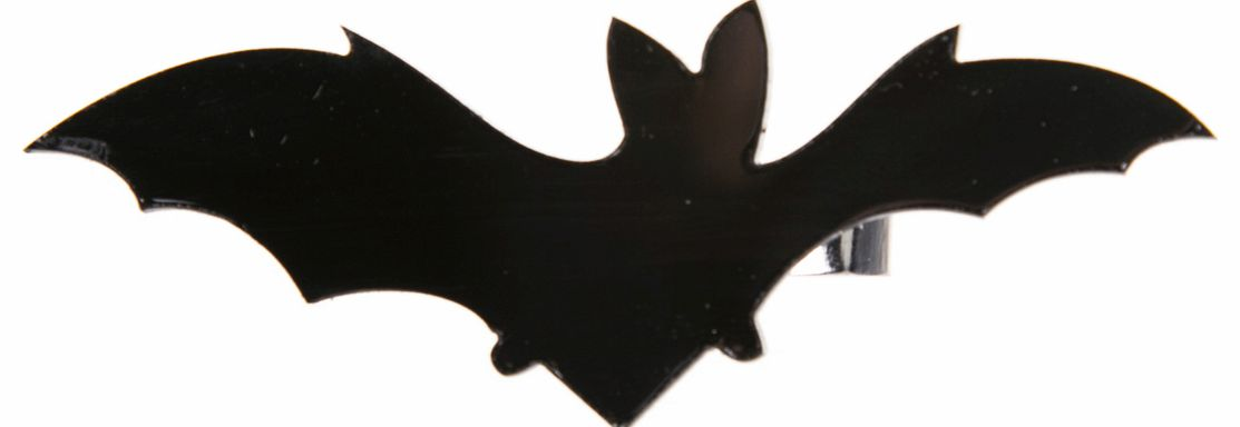 Cherry Loco Black Acrylic Bat Double Ring from Cherry Loco product image