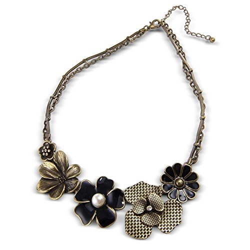 CHIC Fashion Jewellery A Stylish Vintage Flower Necklace - Excellent quality womens costume jewellery necklace - Arrives in a Pretty Gift Bag making this a perfect unique present product image
