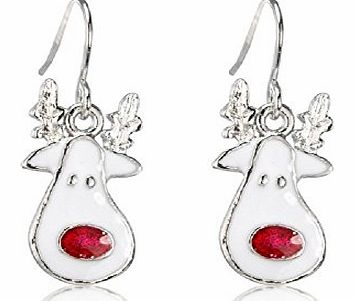 Chic Fashion Jewellery Christmas Costume Jewellery - Red Nose Reindeer Christmas Earrings - arrives in a pretty gift bag to complete your purchase - matching rudolph necklace available product image