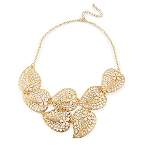 CHIC Fashion Jewellery Gold Leaf Vintage Costume Jewellery Fashion Necklace - arrives in a pretty gift bag. product image