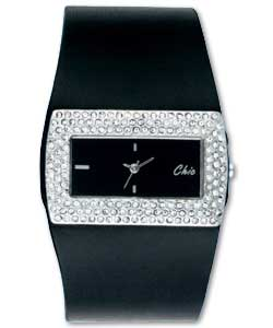 ������� ����� ������ chic-ladies-stone-set-black-dial-watch.jpg