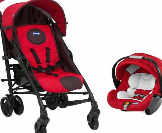 Chicco Liteway Plus Travel System Fire - Red