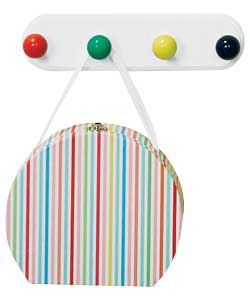 childrens 4 Hook Primary Colours Board product image