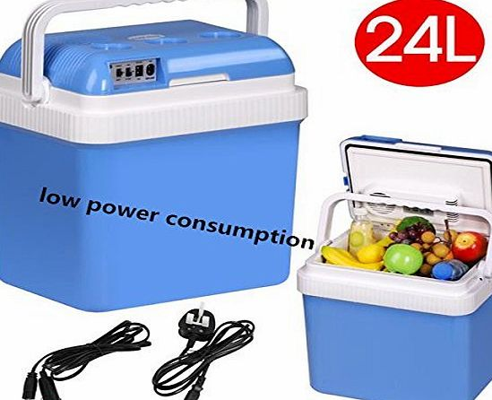 chinkyboo 24L Camping Travel Trip Car Classic Coolbox Van Cold Fridge Hot Electric Car Heater 12V DC 24V AC