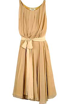 Chloé Pleat Grecian Dress