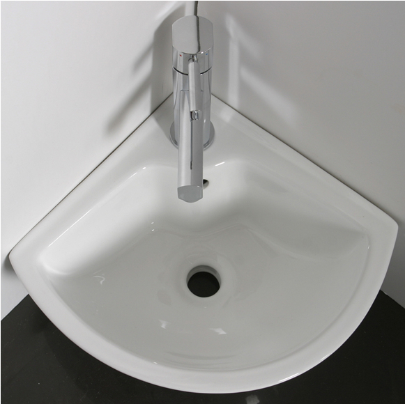 Fantastic wall hung corner basin with one tap hole that will perfectly fit in every cloakroom - CLICK FOR MORE INFORMATION