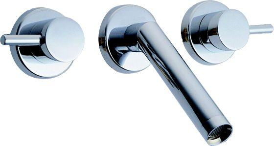 Angula Wall Mount Basin Mixer