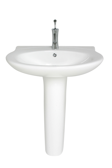 Hide those unsightly pipes with this highly attractive and superior quality wash basin and pedestal. Dimensions: 520mm depth 710mm width 850mm total height - CLICK FOR MORE INFORMATION