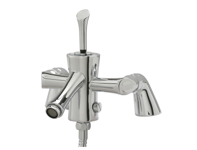Bath shower mixer designed to be mounted on the side of the bath.   Made from solid brass with - CLICK FOR MORE INFORMATION