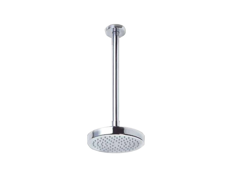 Solid brass with chrome plating.  Shower head diameter is 150mm. Shower Head requires minimum - CLICK FOR MORE INFORMATION