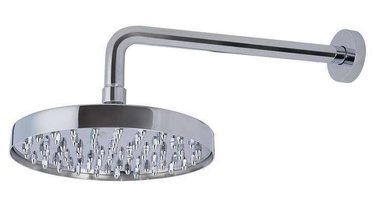 Chrome plated brass shower arm with ball jointed shower head.  Dimension from wall to center of the - CLICK FOR MORE INFORMATION