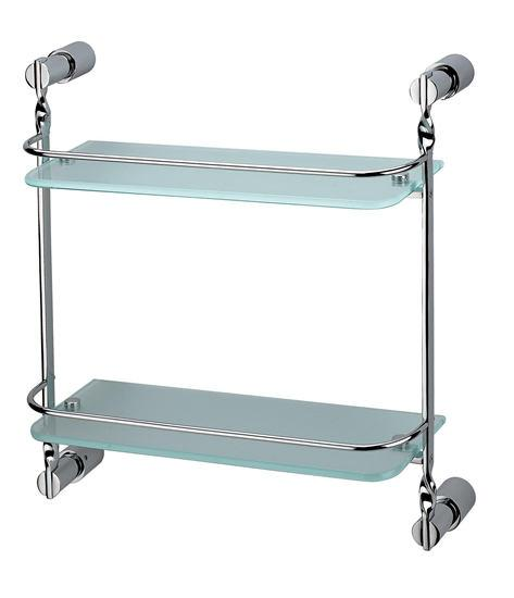 Dalston Double Toughened Glass Shelf